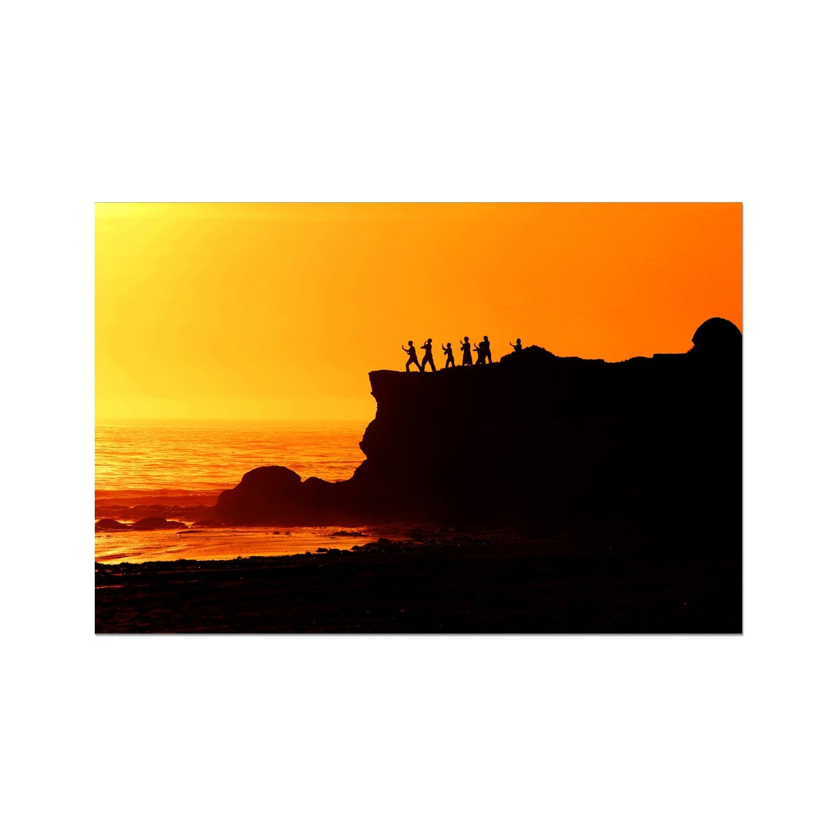 Tai Chi Sunset - California Photo Art Print