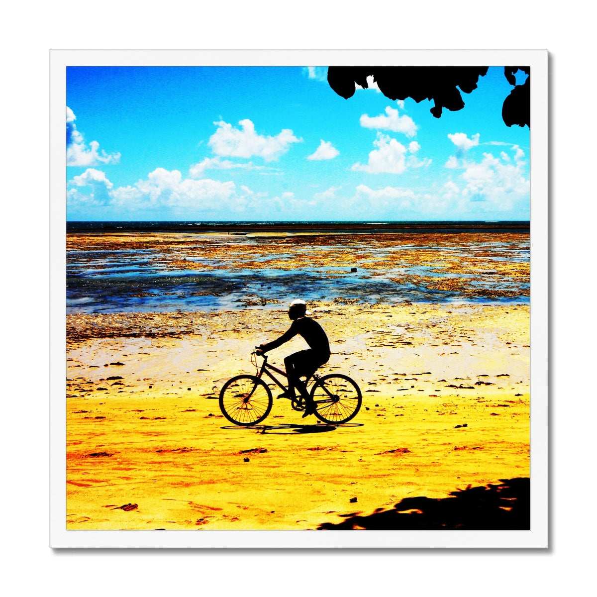 Bahia Bicycle - Square Canvas  Framed Print