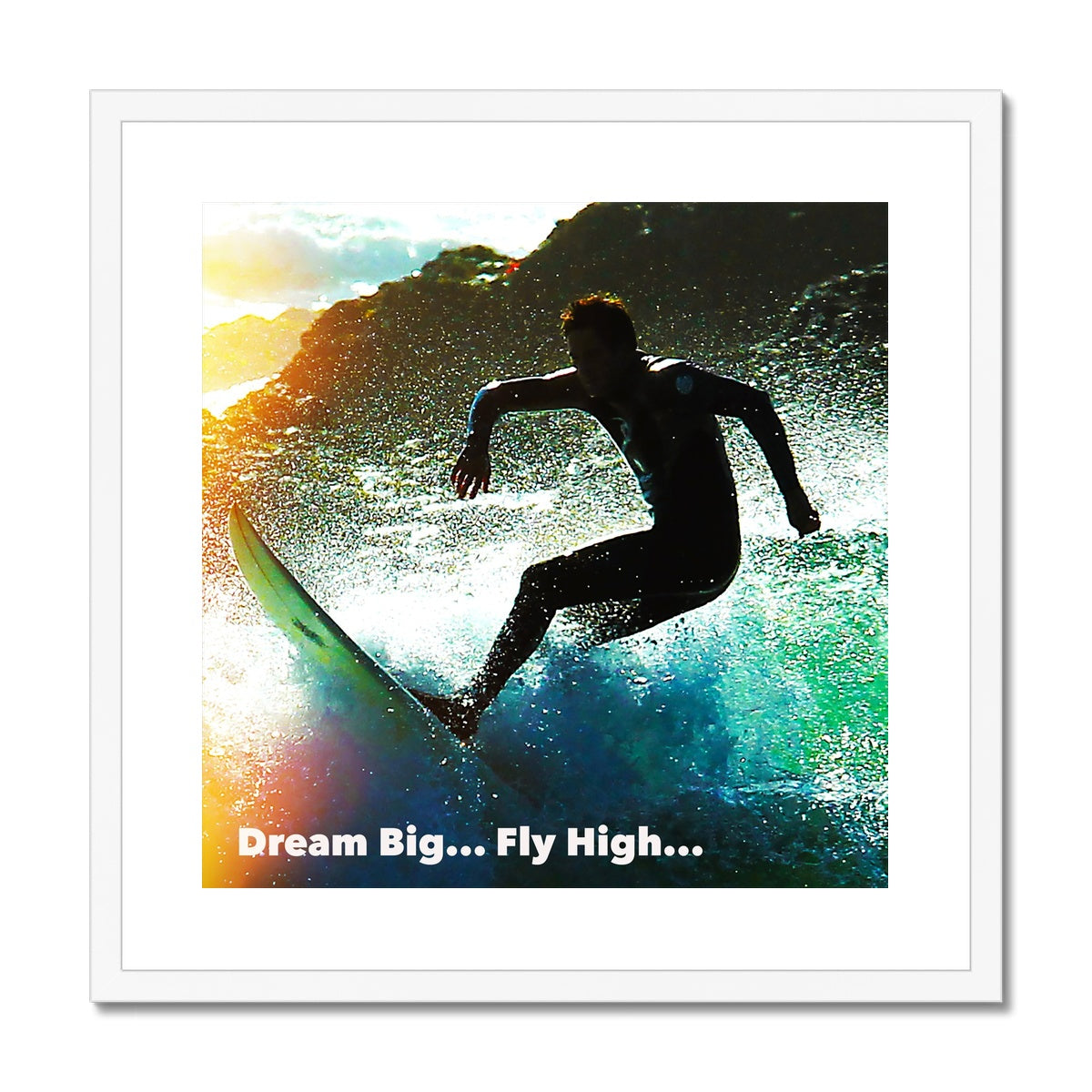 Dream Big - Big Sur... Framed & Mounted Print