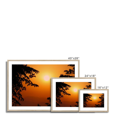 Golden Sun Glow Framed & Mounted Print | Feel Good Images