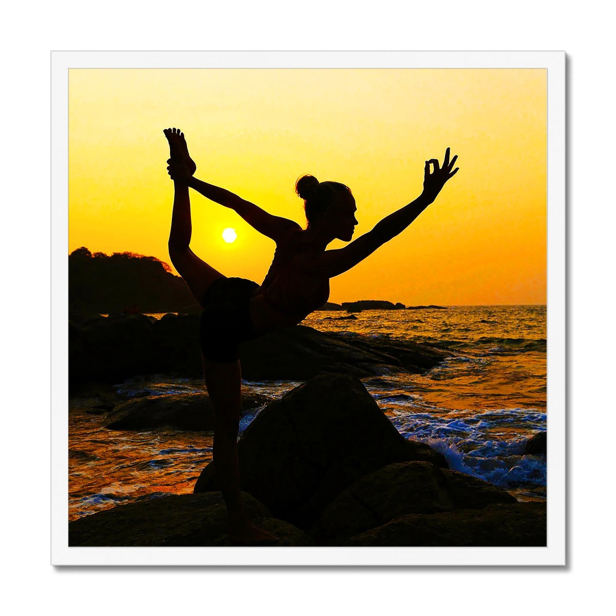 Yoga Dancer - Framed Print
