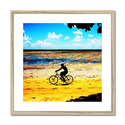 Bahia Bicycle - Square Canvas Framed & Mounted Print | Feel Good Images