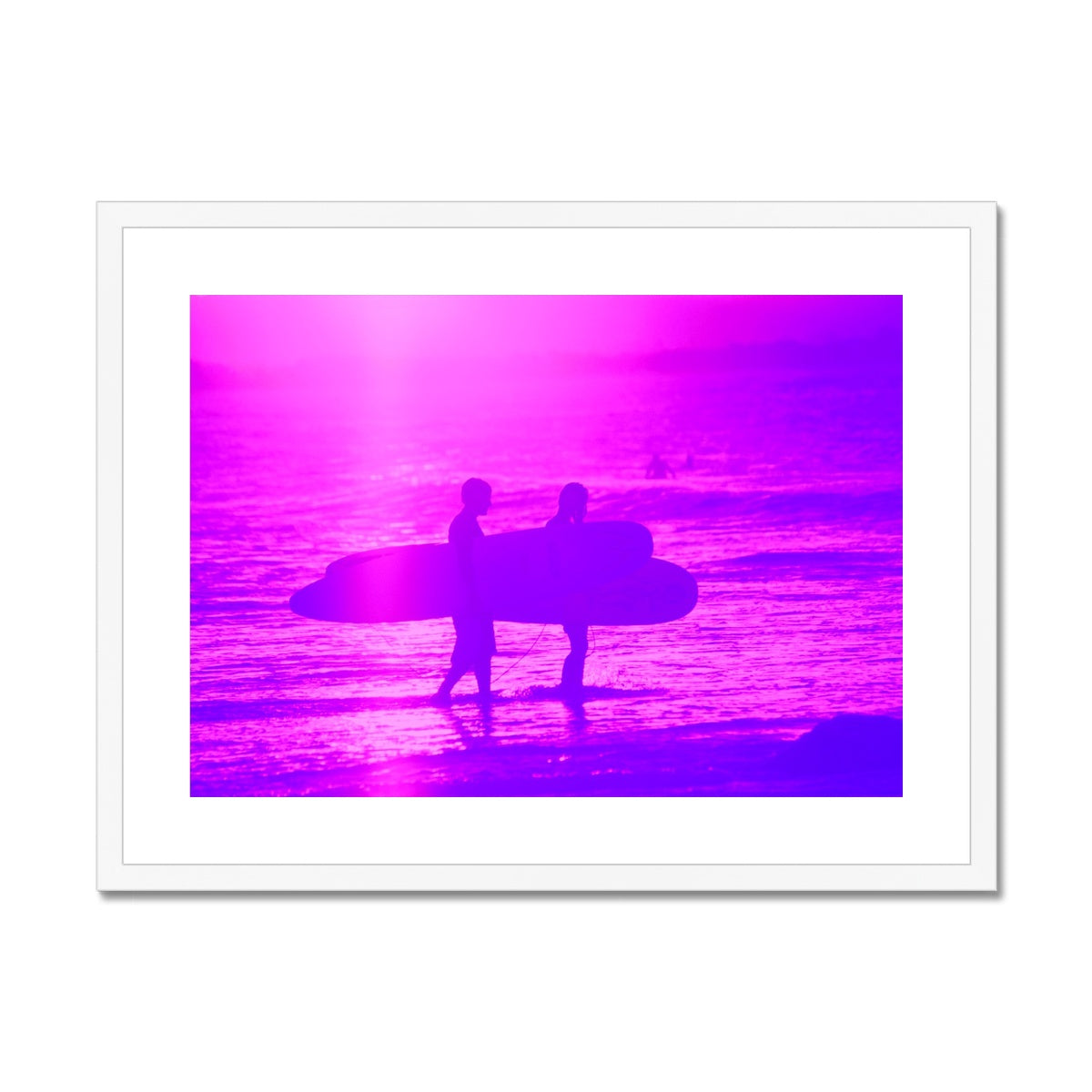 Surf Lovers - Australia - Framed & Mounted Print