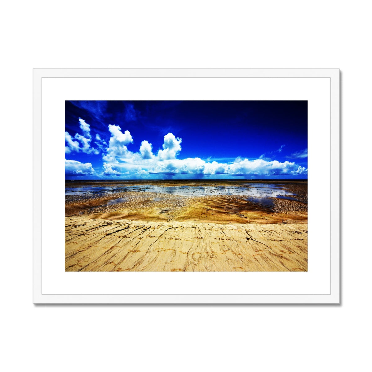 Bahia Electric Aqua Blue - Brasil Framed & Mounted Print