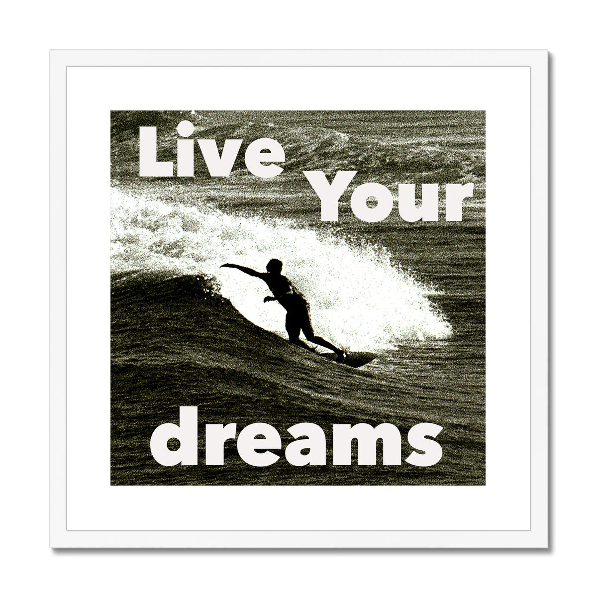 Awesome Surfer ~ Framed & Mounted Print
