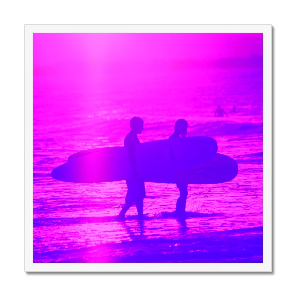 Surf Lovers - Sq Framed Print