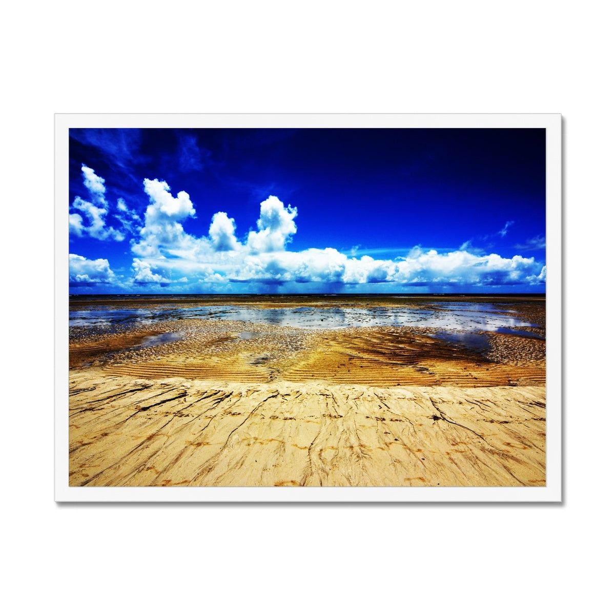 Bahia Electric Aqua Blue - Brasil Framed Print