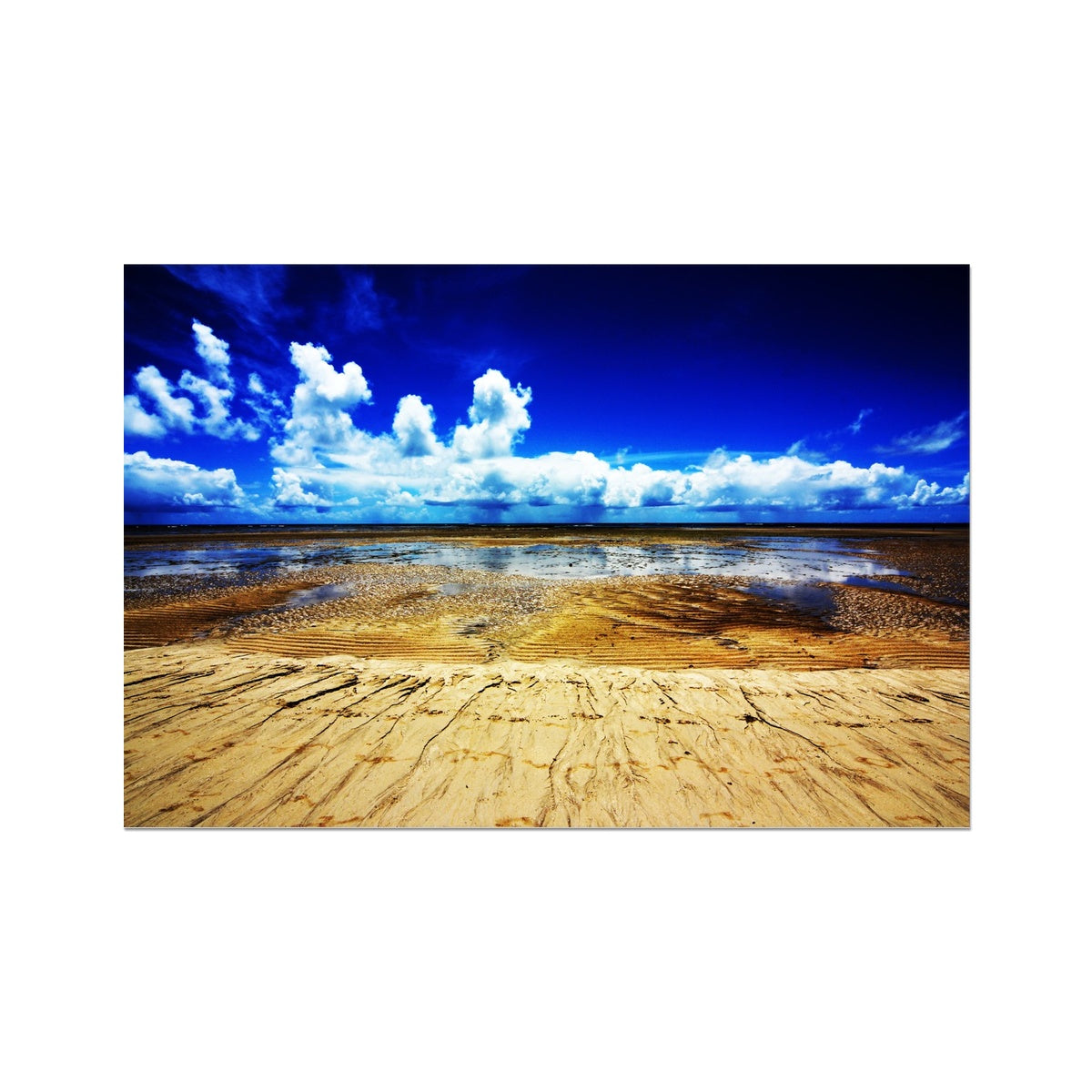 Bahia Electric Aqua Blue - Brasil Photo Art Print