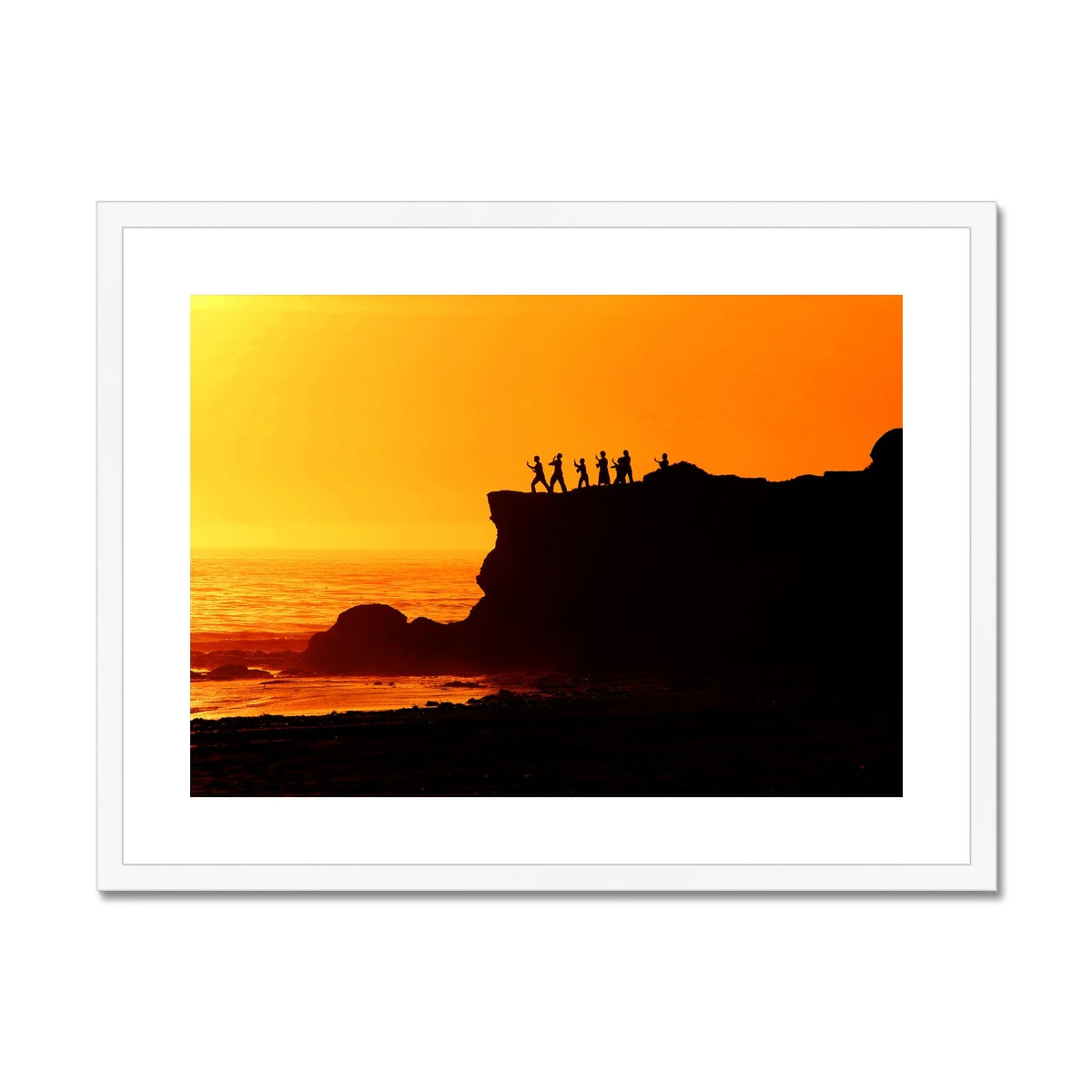 Tai Chi Sunset - California Framed & Mounted Print