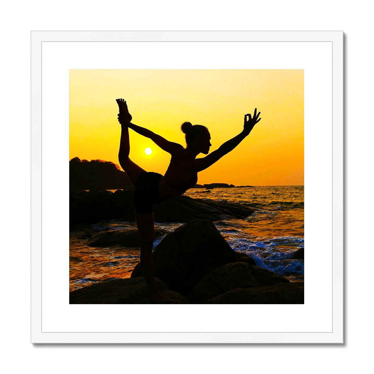 Yoga Dancer Framed & Mounted Print