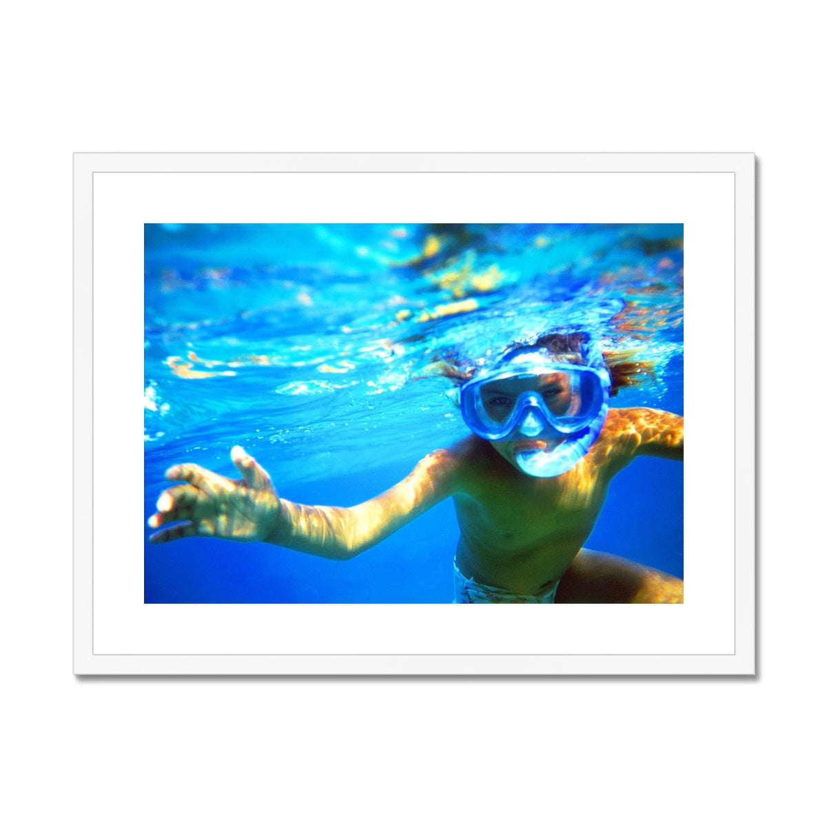 Bedouin Aqua Girl - The Red Sea - Egypt Framed & Mounted Print