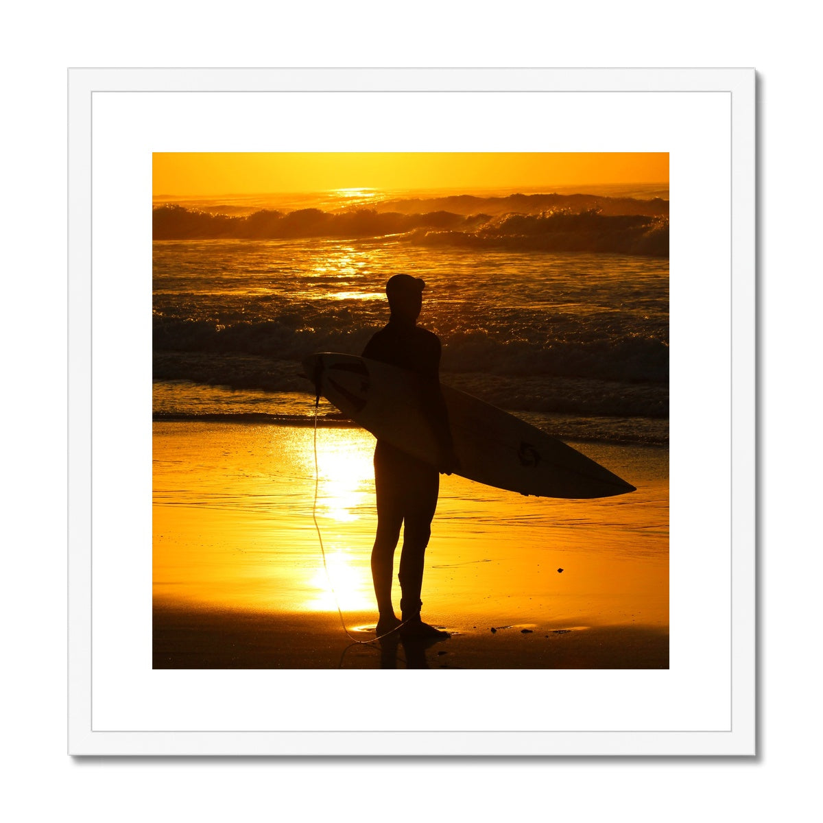 Golden Days - Surf Vision - Framed & Mounted Print