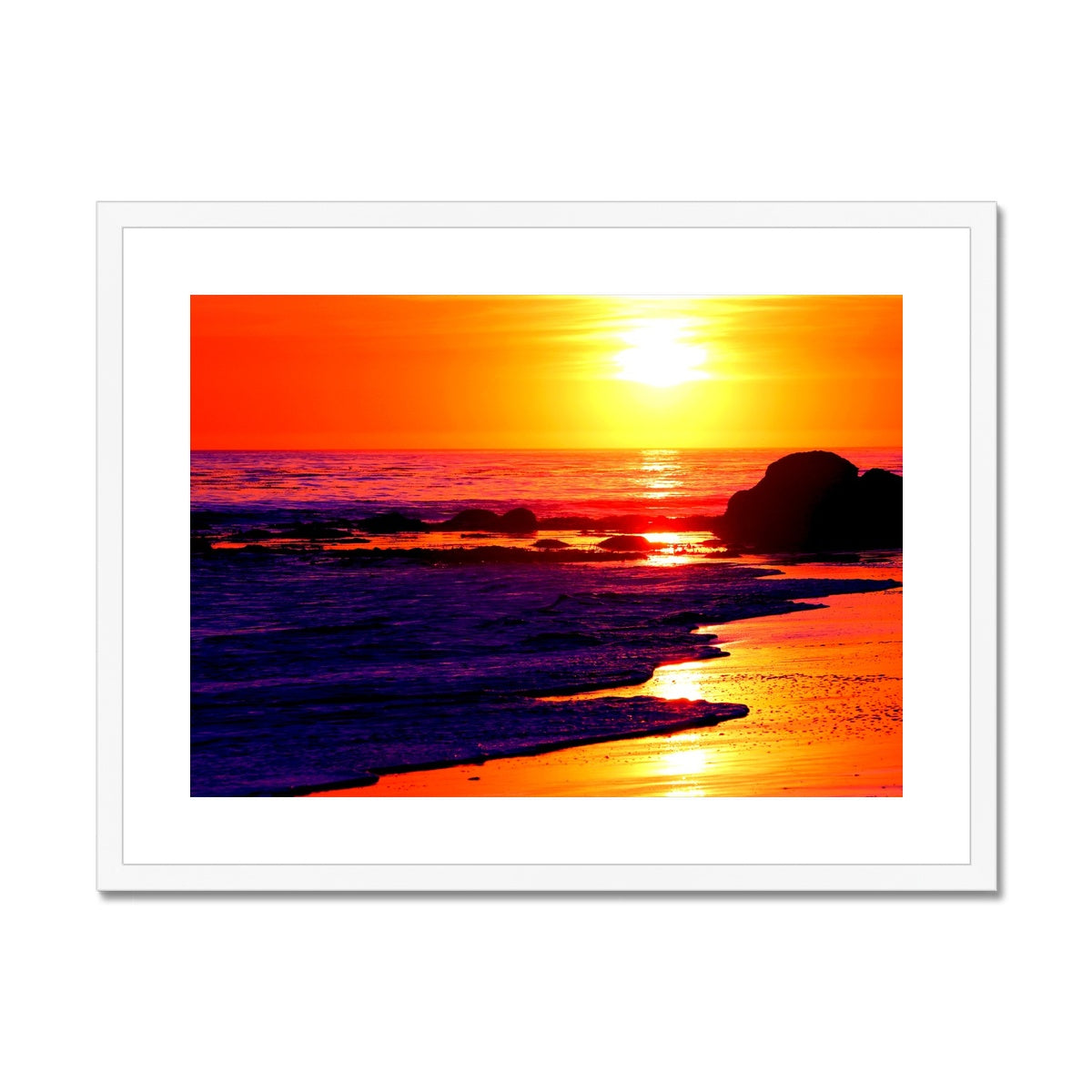 Sunset Dreams - California Framed & Mounted Print