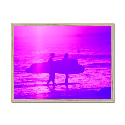 Surf Lovers - Australia - Framed Print