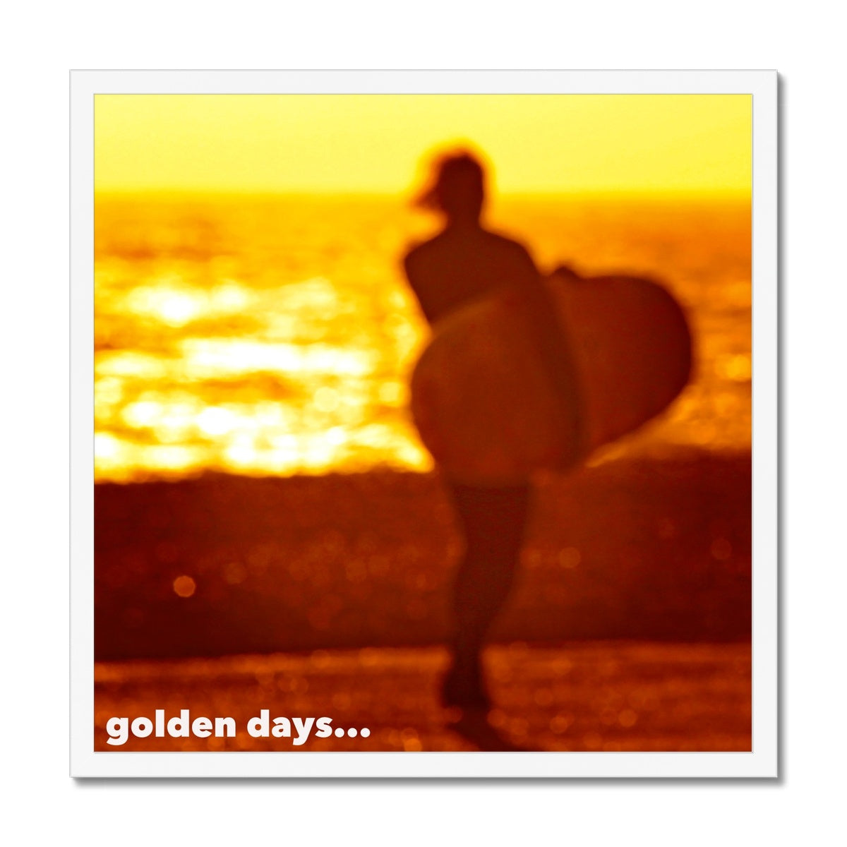 Golden Days - Framed Print