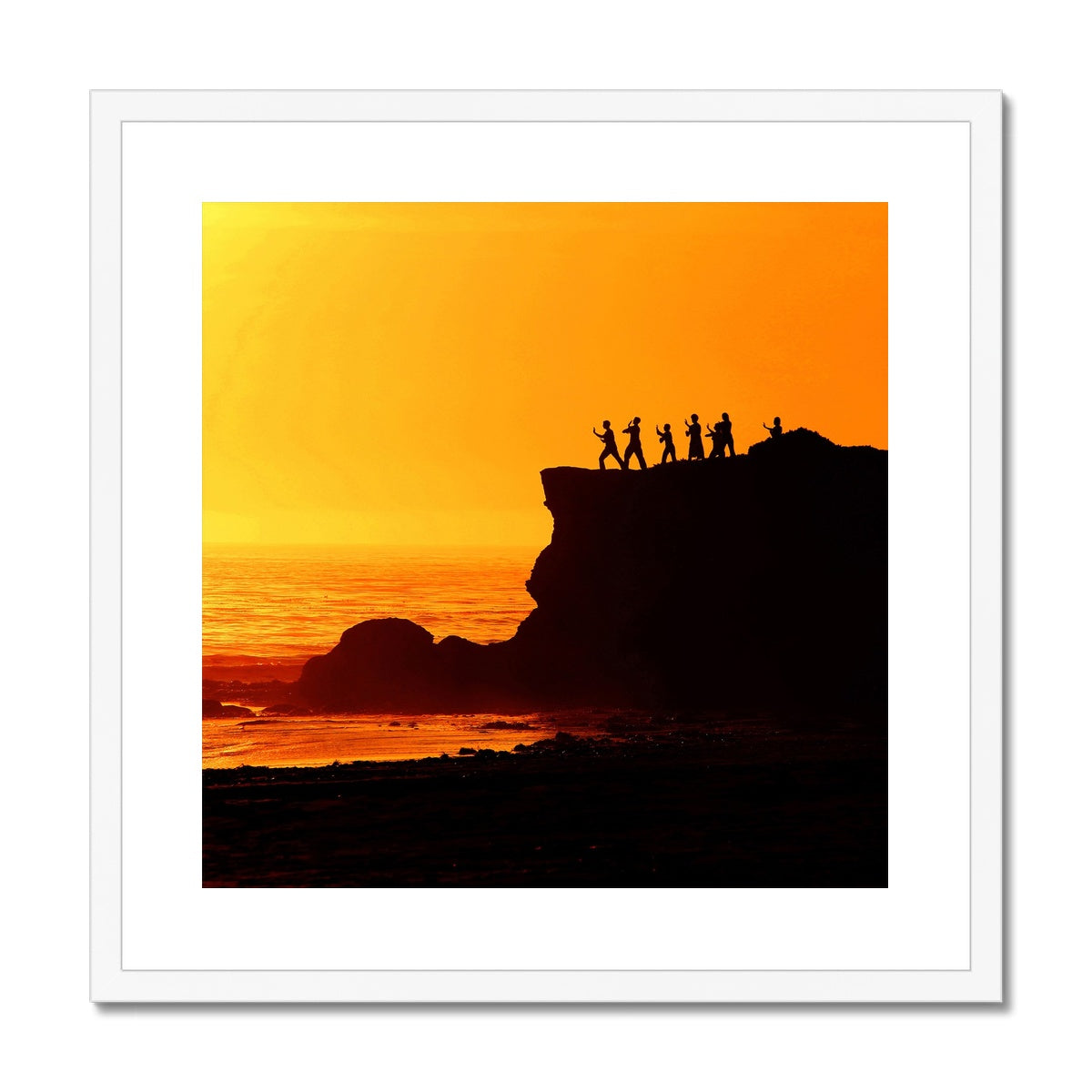 Tai Chi Sunset Framed & Mounted Print