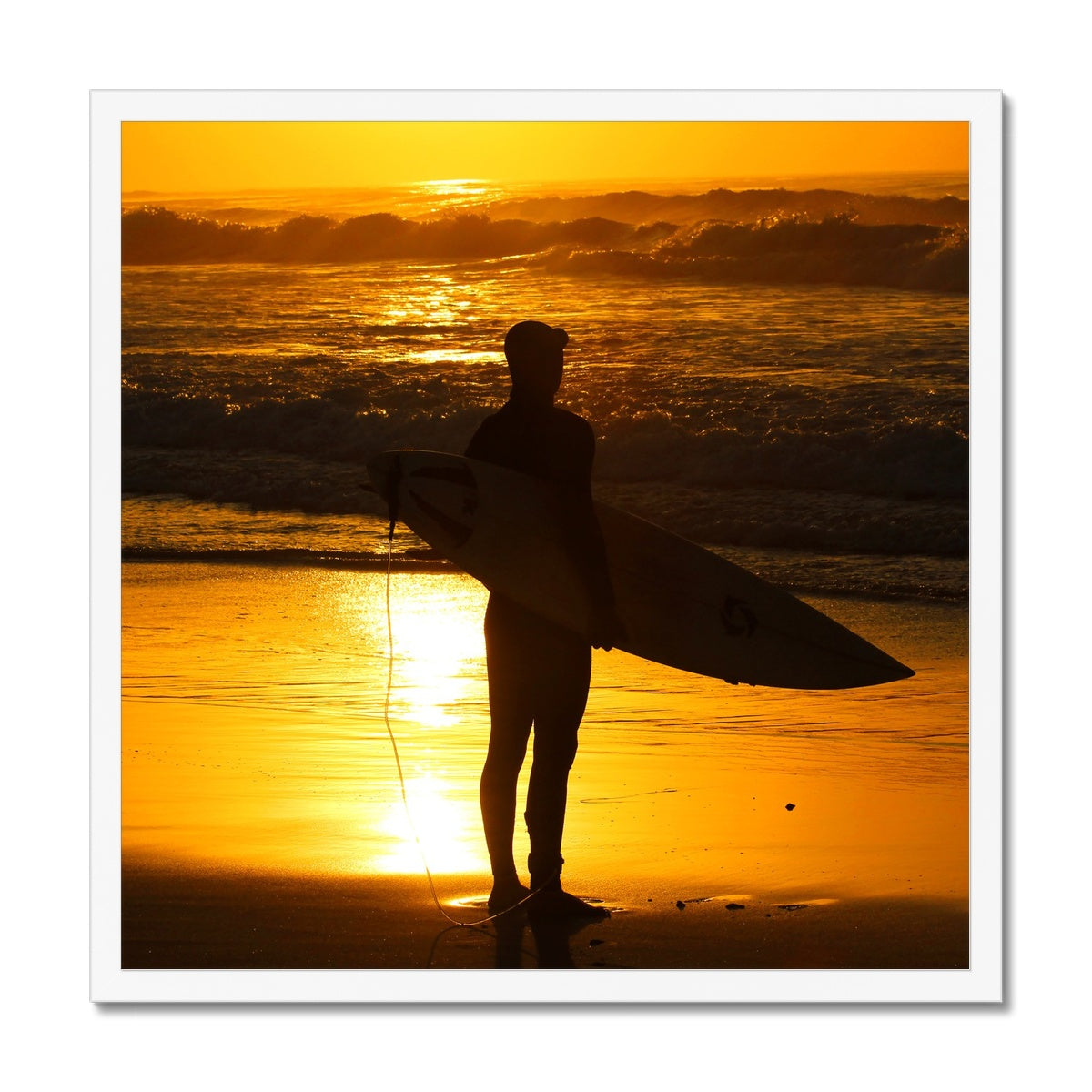 Golden Days - Golden Days - Surf Vision - Framed Print