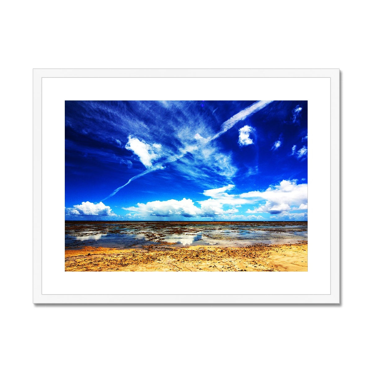Bahia Electric Aqua Blue II - Brasil - Framed & Mounted Print