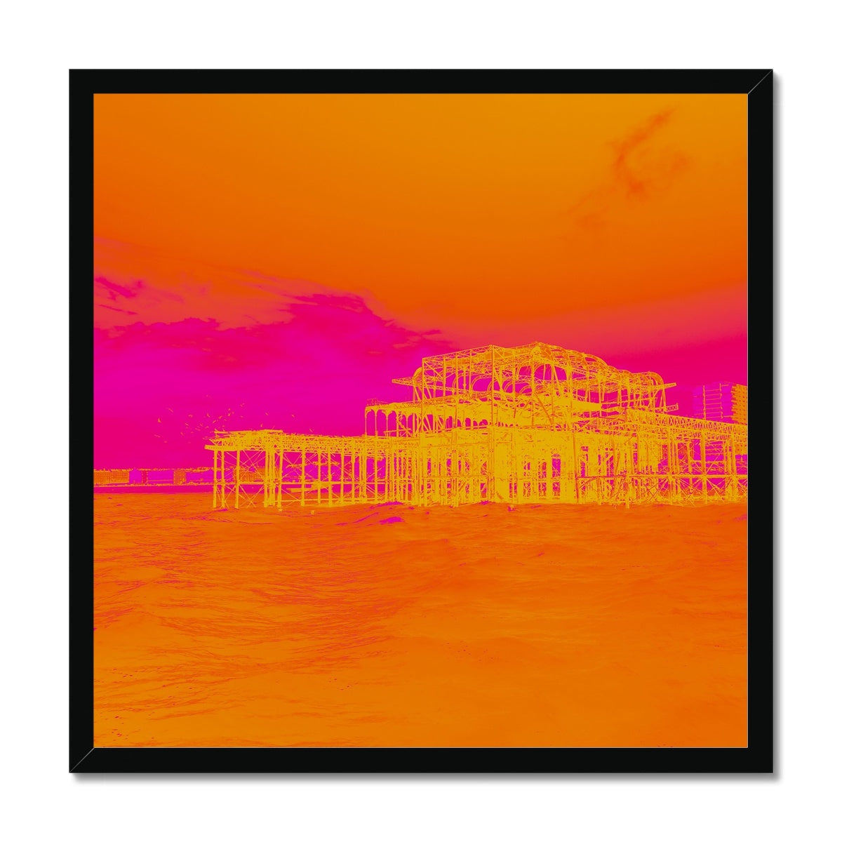 Sunset Ripple Framed Print