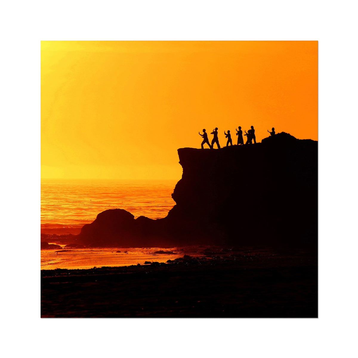 Tai Chi Sunset - Photo Art Print