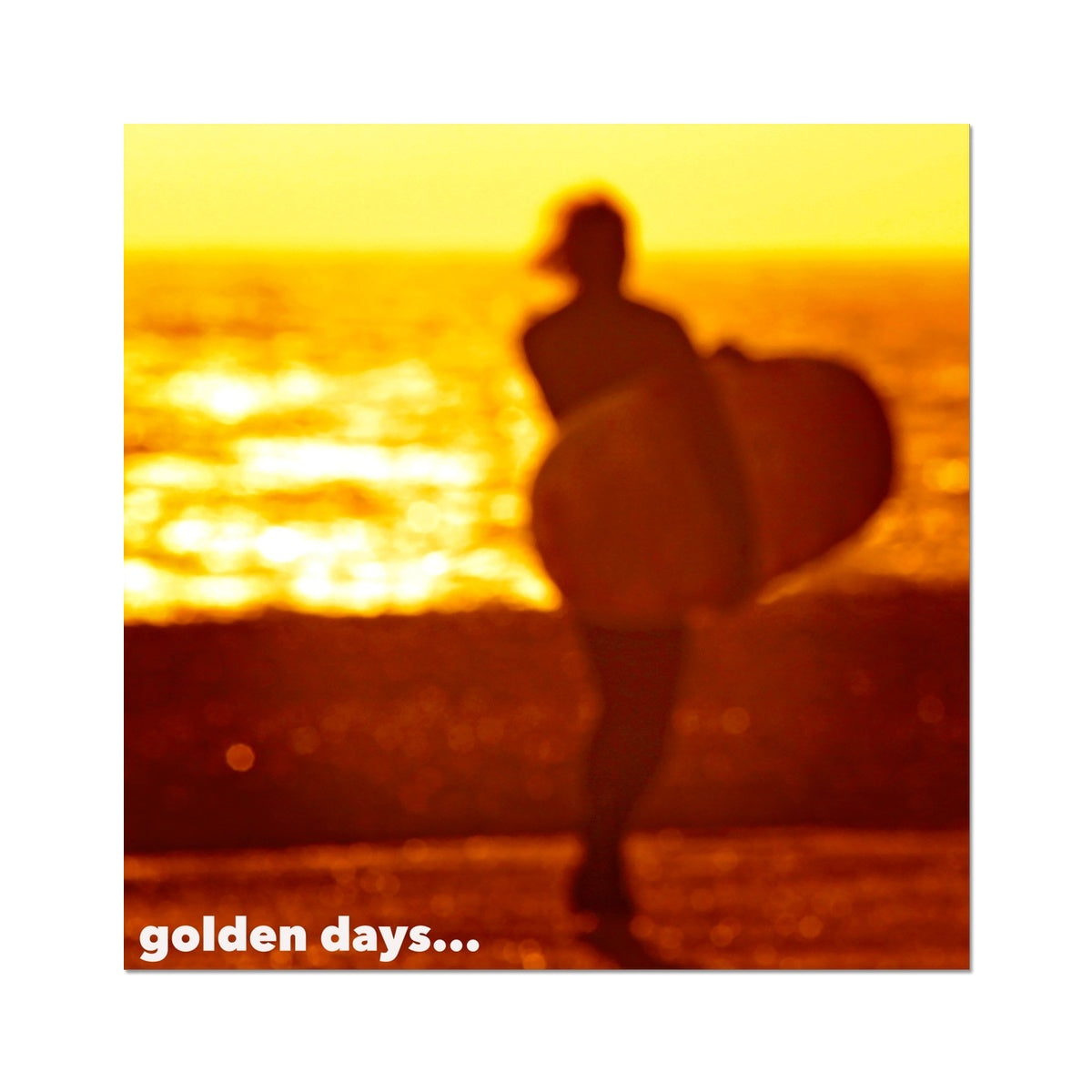 Golden Surf Days - Photo Art Print