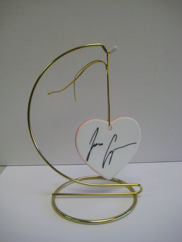 Original Signed Ceramic Heart on Stand by Two time Emmy Award Winner Jon Cryer