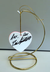 Original Signed Ceramic Heart on Stand by Actor Bill Smitrovich