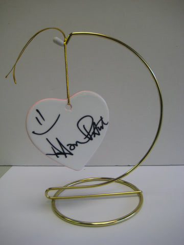 Original Signed Ceramic Heart on Stand by Actor Aaron Paul