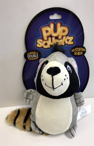 """Pup Squeakz"" Raccoon Dog Toy"