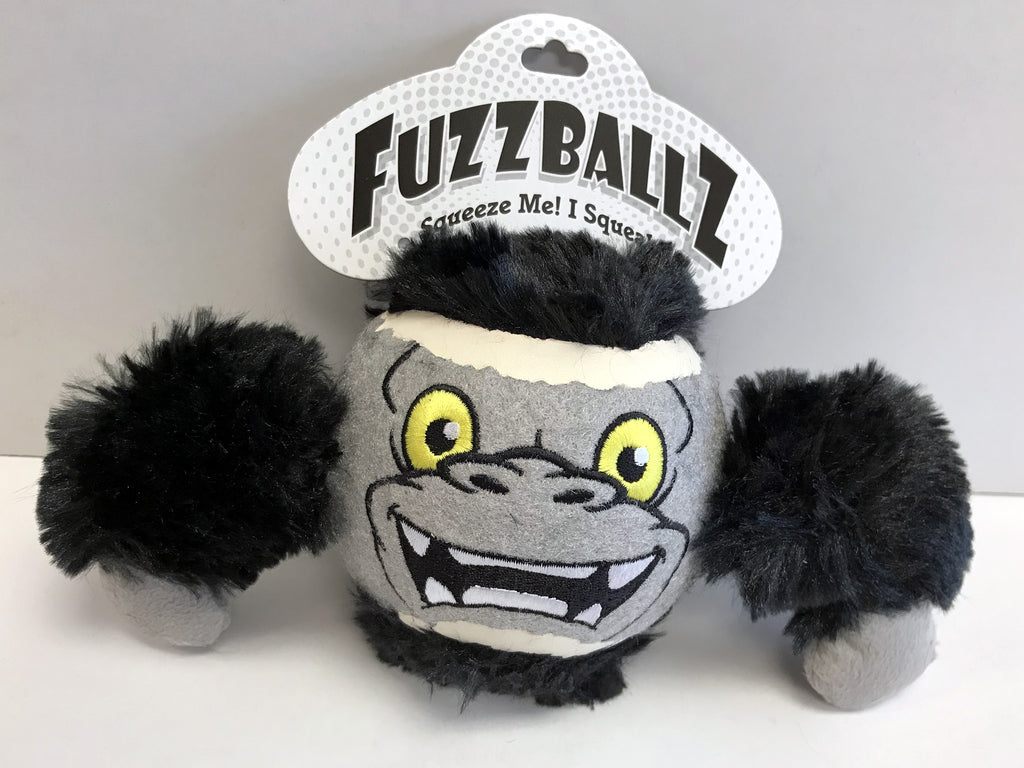 """FuzzBallz"" Gorilla Dog Toy"