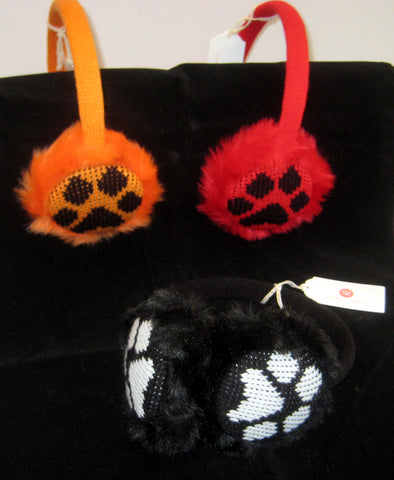 Paw Print Earmuffs (Choice of 3 Colors)