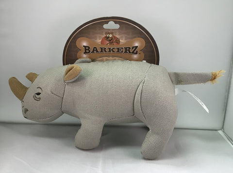 """Barkerz"" Rhino Dog Toy"