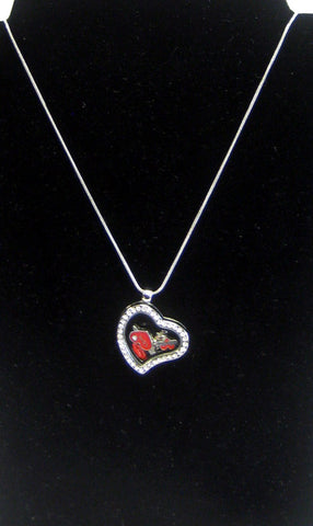 """Love"" Heart Locket Necklace with Charms"