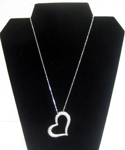Heart Necklace with Crystals