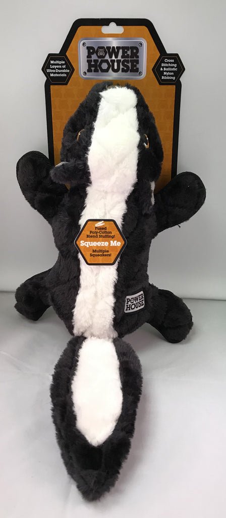 """Power House"" Skunk Dog Toy"