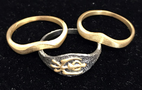 Set of three stackable rings - Khanda: Peace