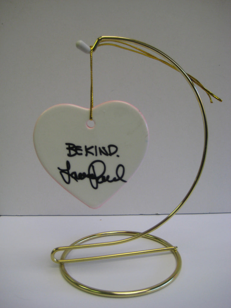 Original Signed Ceramic Heart on Stand by Lauren Paul