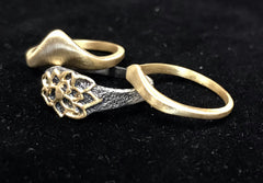 Set of three stackable rings - Lotus: Rebirth