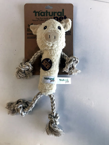 Natural Pet Pig Rope Toy