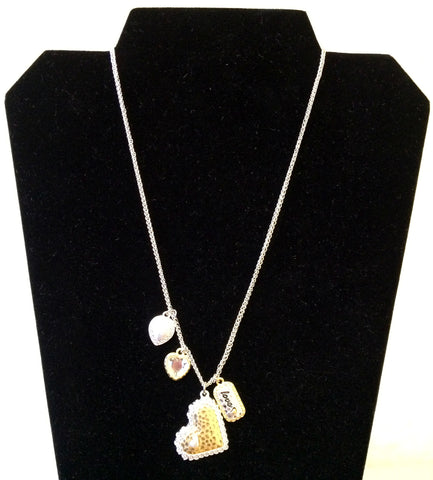 Heart Necklace with Charms