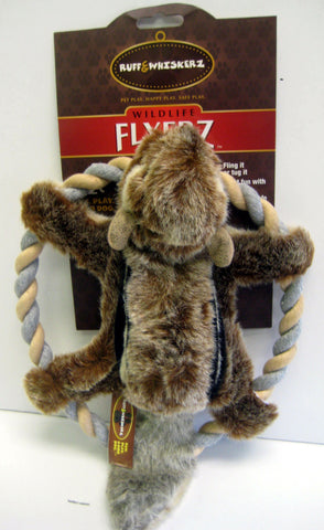 Flyerz Squirrel Frisbee/Pull Toy