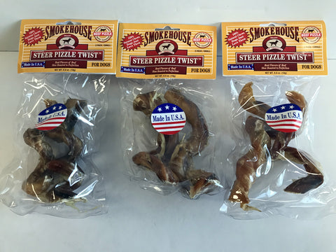 Smokehouse Steer Pizzle Twists (3 Packs of 2)