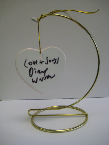 Autographerd Ceramic Heart on Stand legendary song writer Diane Warren