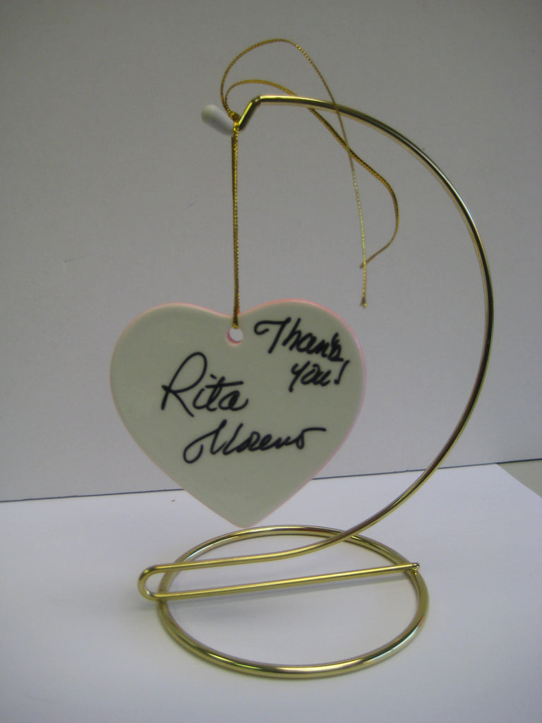 Original Signed Ceramic Heart on Stand by Rita Moreno