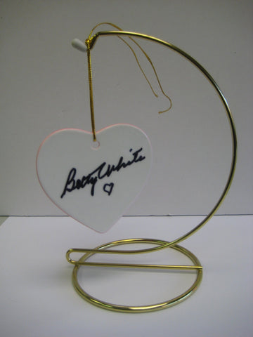 Original Signed Ceramic Heart on Stand by Betty White