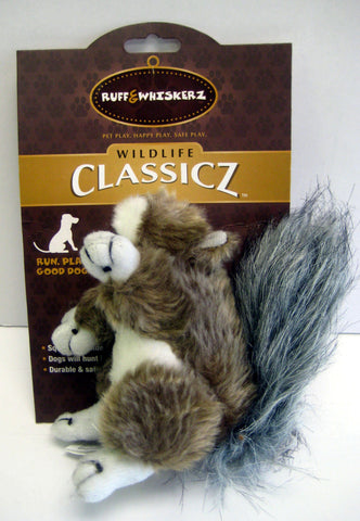 """Classicz"" Small Squeaky & Durable Squirrel Dog Toy"