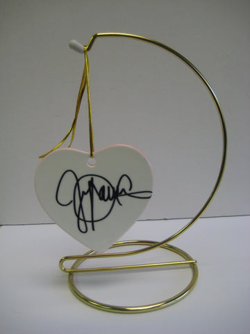 Original Signed Ceramic Heart on Stand by Oscar Winner Jennifer Lawrence