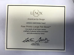 Lenox Paw Prints Large Pet Bowl