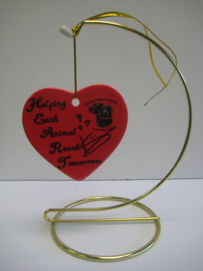 Original Signed Ceramic Heart on Stand by Actress Kristen Wiig