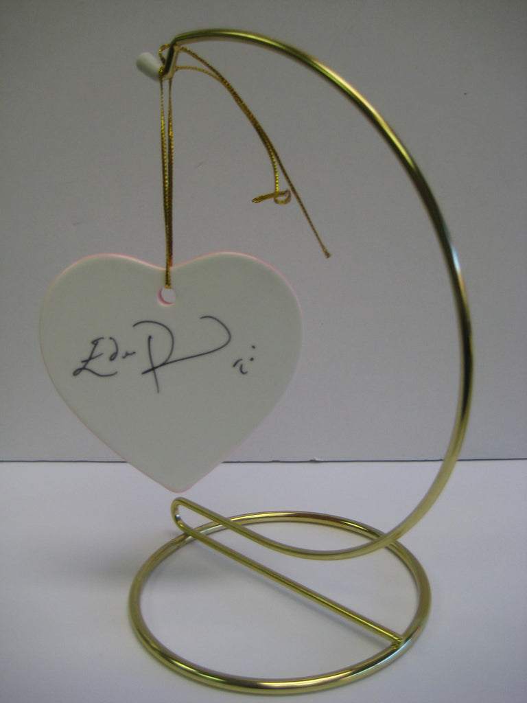 Original Signed Ceramic Heart on Stand by Actor Eddie Redmayne